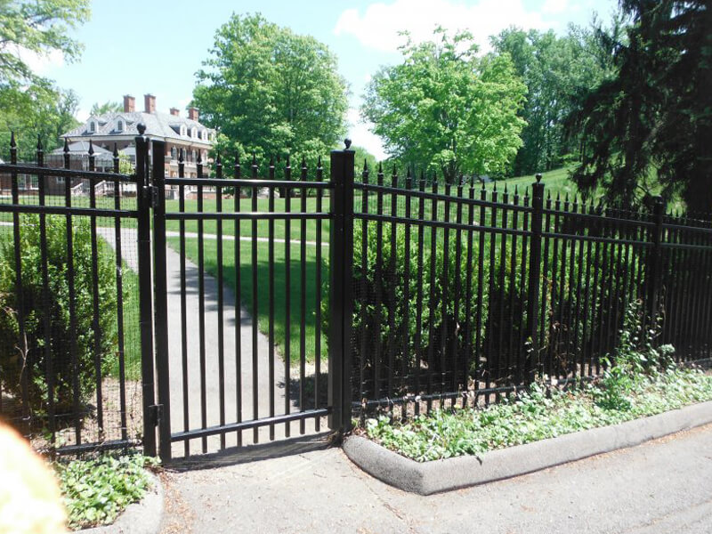 security fence around home