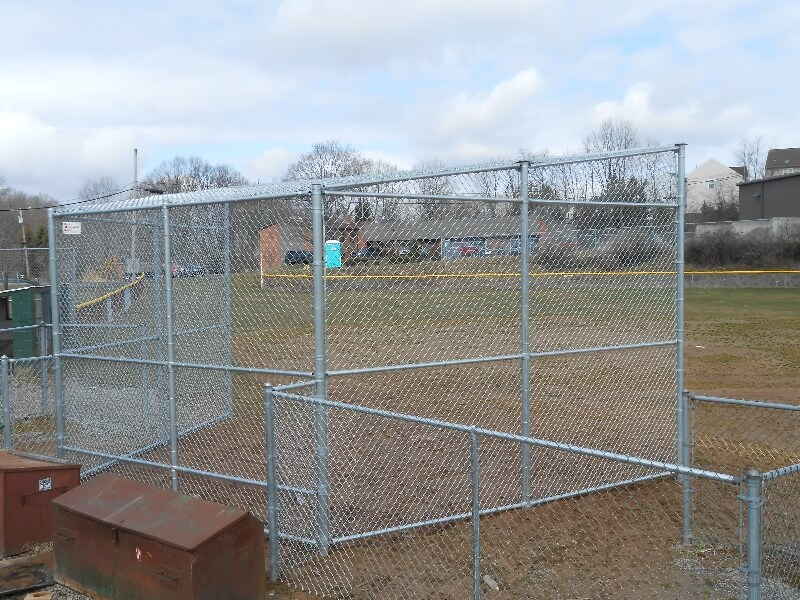 backstop fence