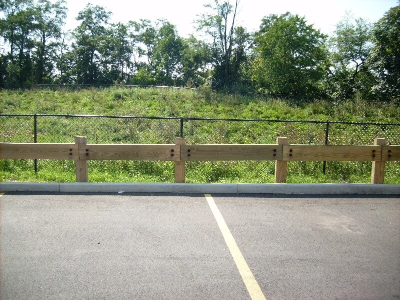 security fence in parking lot