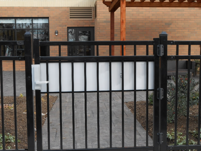 security fencing around business