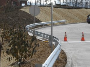 Guide Rail Install on Highway