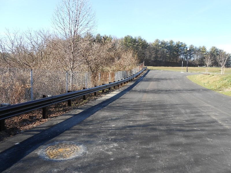 parking lot railing