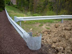 guardrail around parking lot