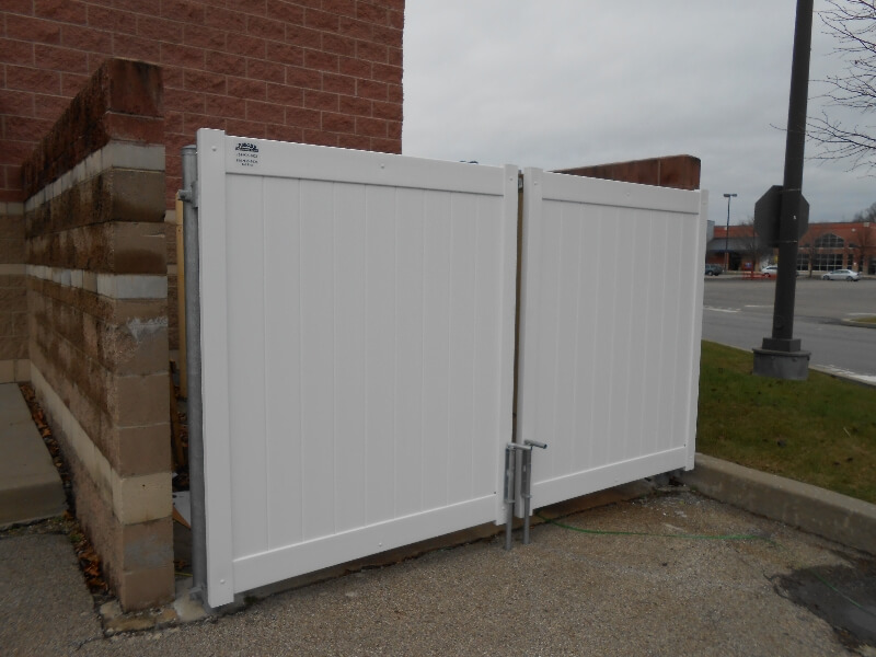 security fencing around dumpster