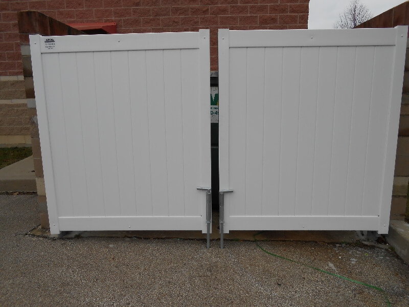 dumpster security fence