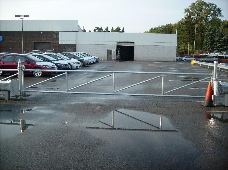 parking lot gate installation