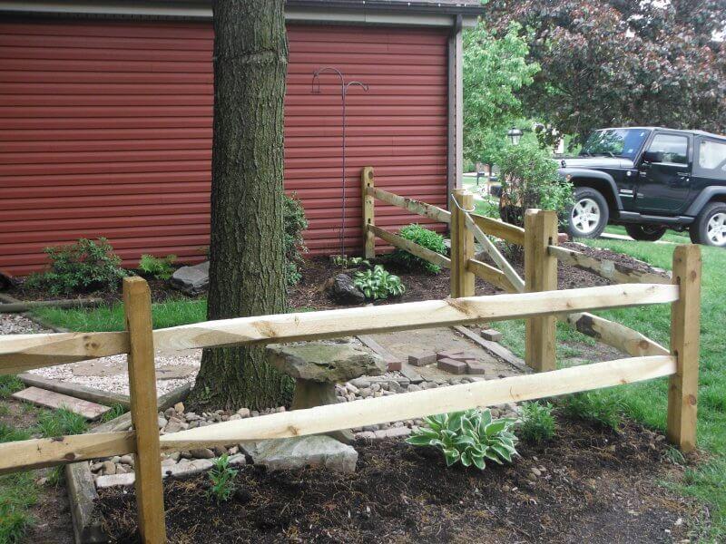 Spit Rail Fencing Cranberry