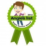 Angie's List 2012 Award